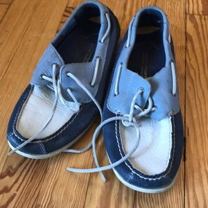 Rockport blue and white boat shoes